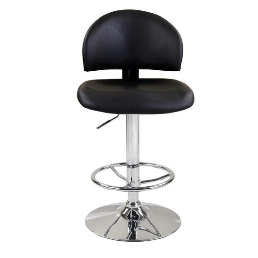 Jacob Adjustable Height Swivel Bar Stool with Cushion
