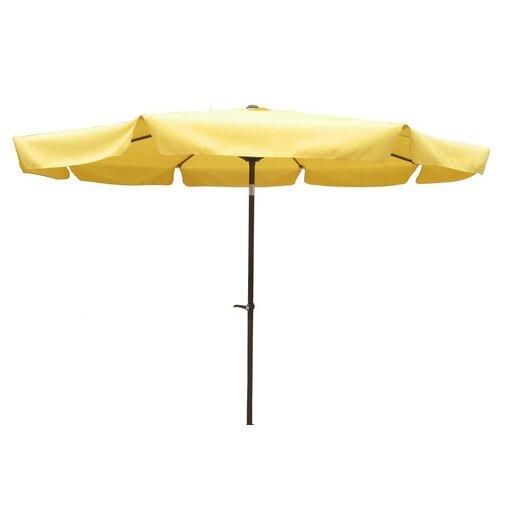 International Caravan St. Kitts 8-Foot Aluminum Patio Umbrella with Crank