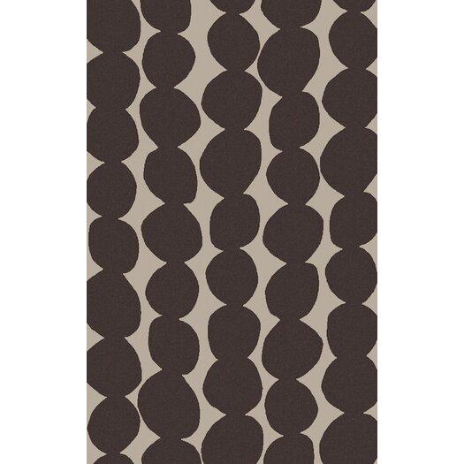 Light Gray/Black Geometric Rug