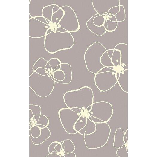 Light Gray Floral Rug