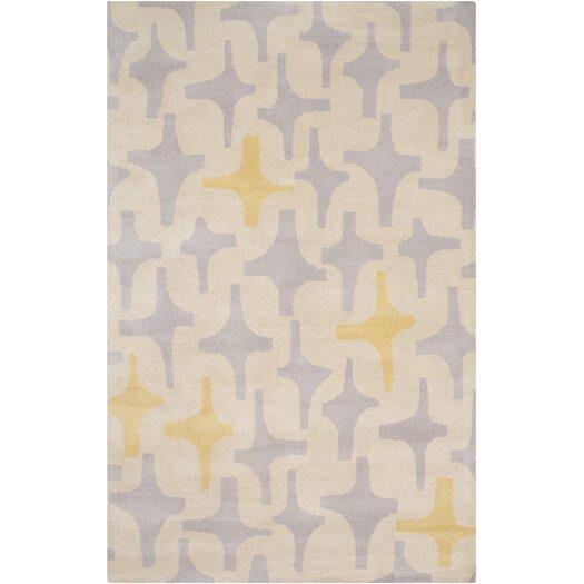 Decorativa Gold/White Geometric Rug