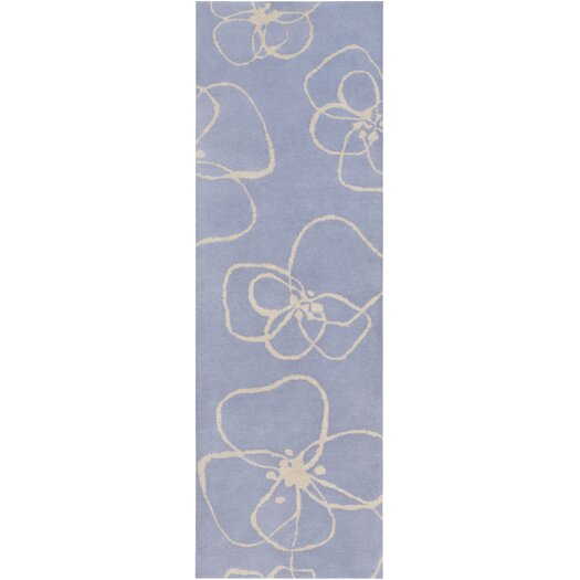 Decorativa Light Gray/Iris Floral Rug