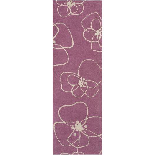 Decorativa Purple/Cream Floral Rug