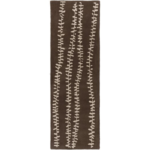 Decorativa Chocolate/Light Gray Floral Rug