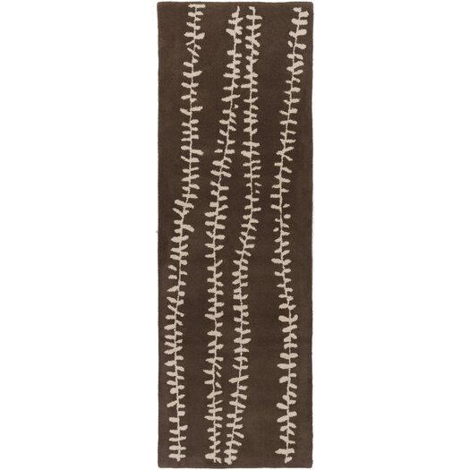 Decorativa Chocolate Floral Area Rug