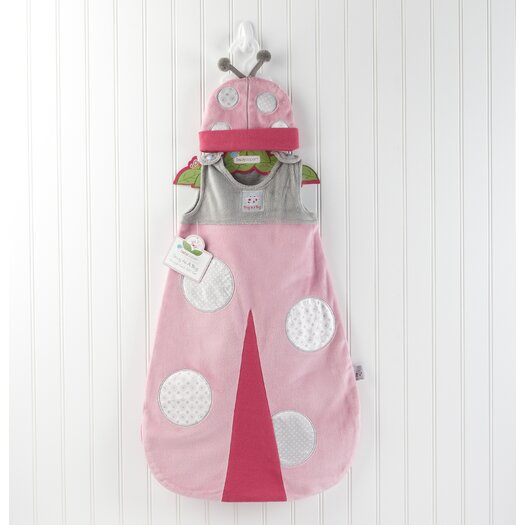 "Baby Aspen ""Snug As a Bug"" Ladybug Snuggle Sack"