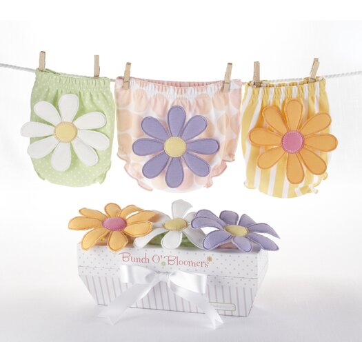 "Baby Aspen ""Bunch o' Bloomers"" Three Bloomers for Blooming Bums Gift Set"