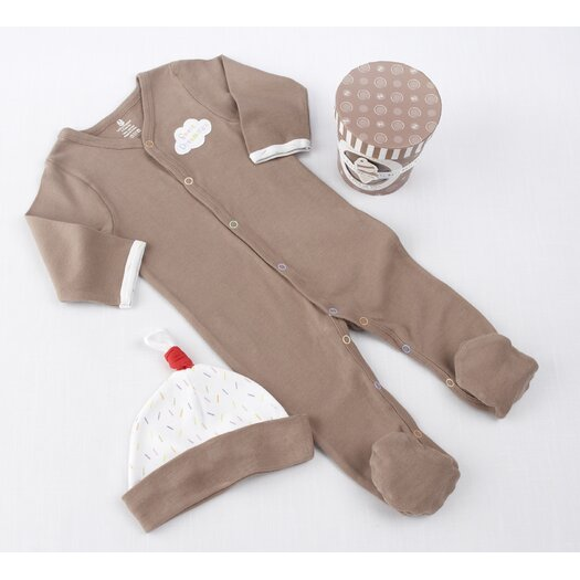 """Baby Aspen """"Sweet Dreamzzz"""" A Pint of PJ's Sleep-Time Gift Set in Chocolate"""