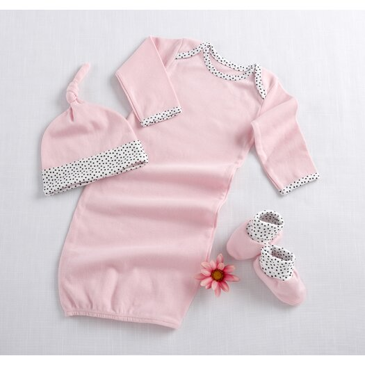 """Baby Aspen """"Welcome Home Baby!"""" 3 Piece Layette Set in Pink"""