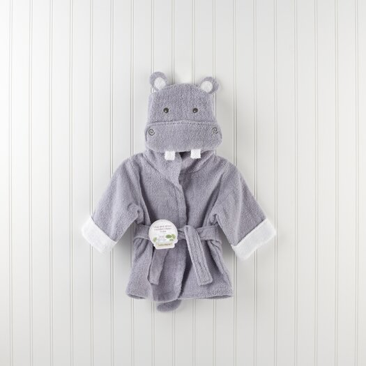 "Baby Aspen ""Hug-alot-amus"" Hooded Hippo Robe"