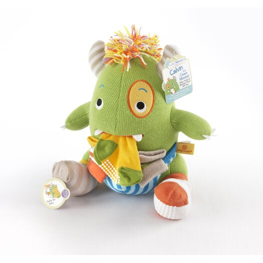 Baby Aspen Closet Monsters Knit Baby Socks and Plush Gift Set