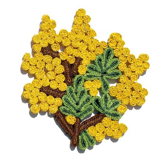 Seletti Florigraphie Mimosa Straw Pot Holder