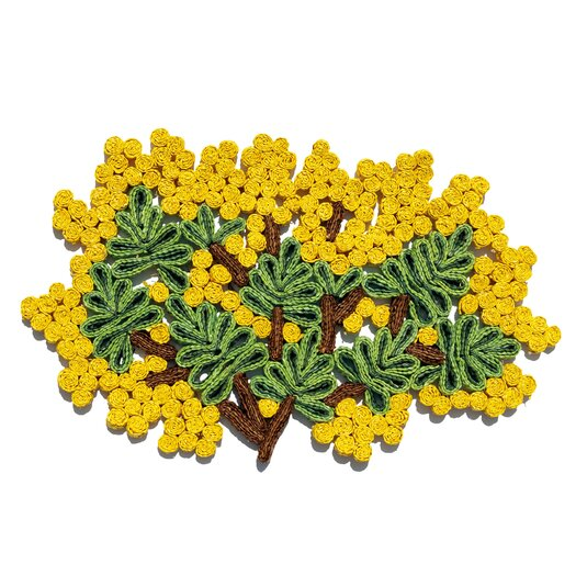 Seletti Florigraphie Mimosa Straw Table Mat