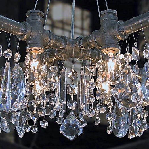 Michael McHale Designs Tribeca 12 Light X-Chandelier