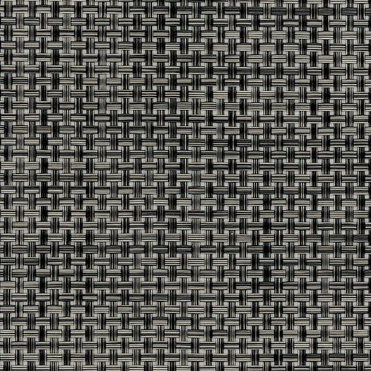 Chilewich Basketweave Carbon Floor Mat Black/Grey Area Rug