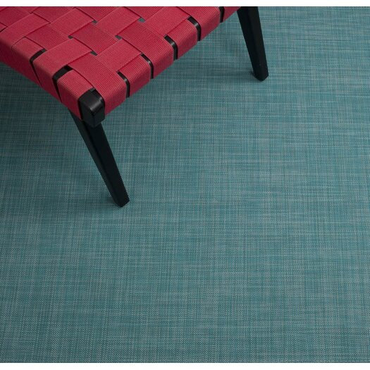 Chilewich Mini Basketweave Turquoise Floor Mat