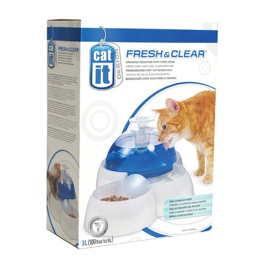 Catit by Hagen Catit Fresh and Clear Drinking Fountain for Cats and Dogs