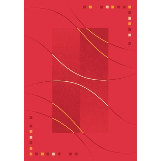 Milliken Pastiche Caliente Rouge Red Area Rug