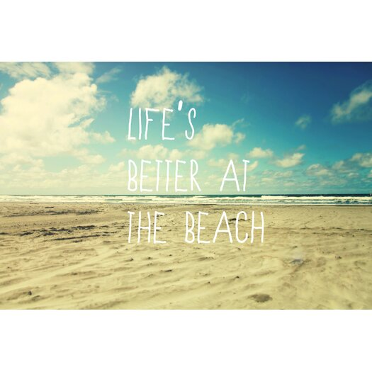 Life's Better at the Beach Painting Prints on Canvas