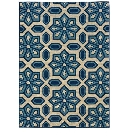 Oriental Weavers Caspian Ivory / Blue Indoor / Outdoor Area Rug