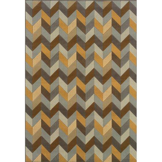 Oriental Weavers Bali Geometric Grey & Gold Rug