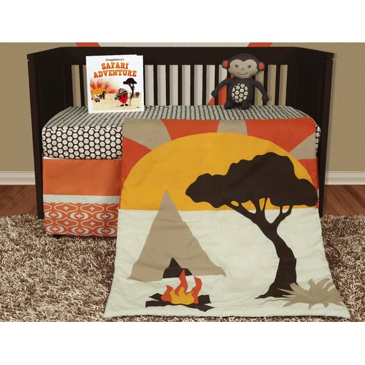 Snuggleberry Baby African Dream 5 Piece Crib Bedding Collection w/ Storybook