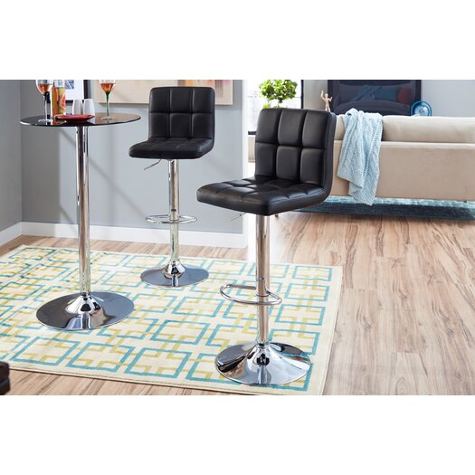 Zipcode Design Savannah Adjustable Height High Back Barstool