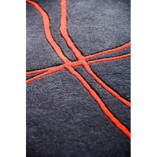 Hokku Designs Ticta Charcoal Area Rug