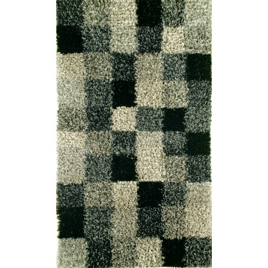 Hokku Designs Madrian Grey Shag Area Rug