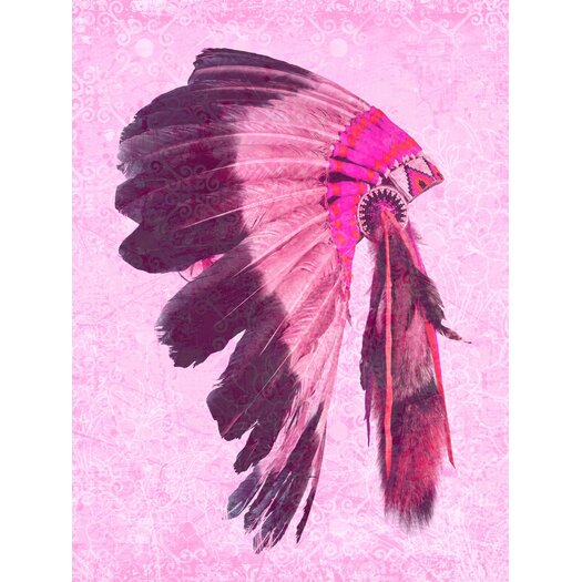 Indio Graphic Art in Pink