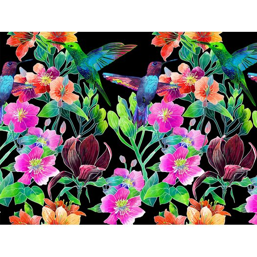 Tiger Lilly Graphic Art in Black