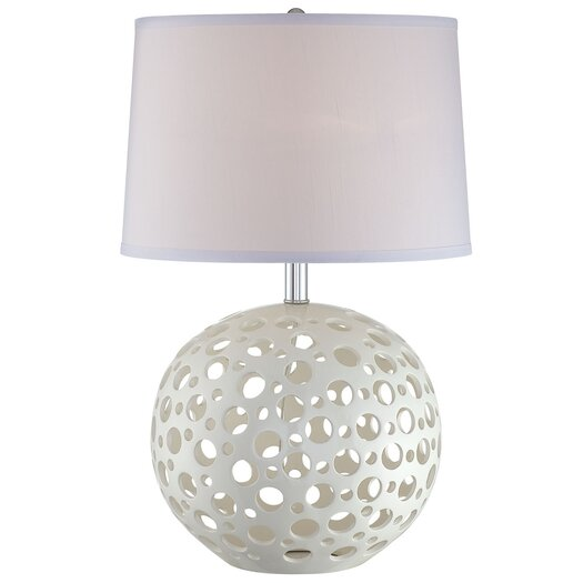 Lite Source Finnian Table Lamp in White