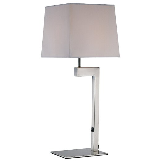"Lite Source Fritzi 26.75"" H Table Lamp with Rectangle Shade"