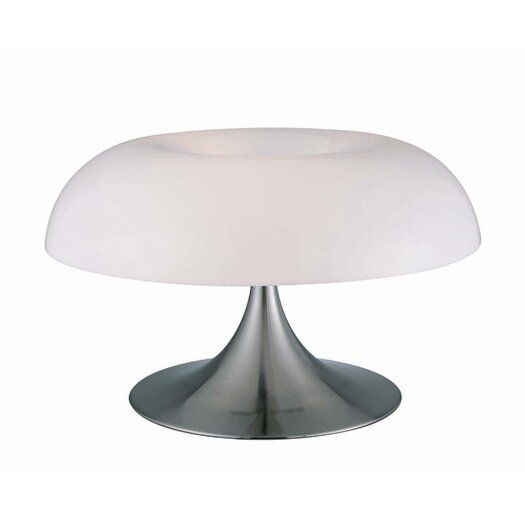 """Lite Source Pliant 12"""" H Table Lamp with Bowl Shade"""