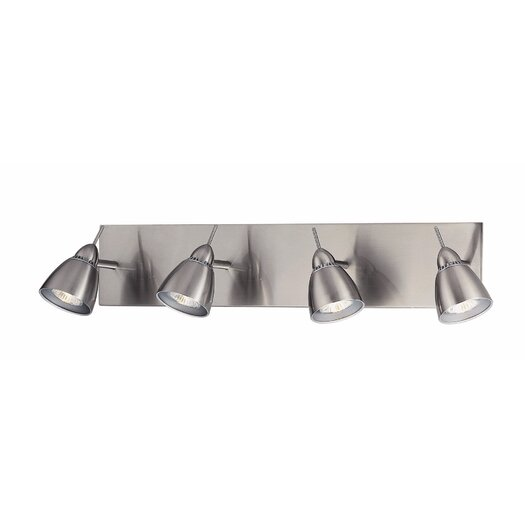 Lite Source Casara Four Light Wall Lamp in Polished Steel