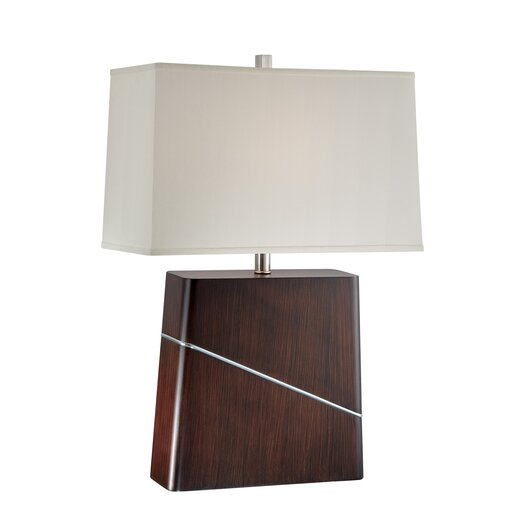 """Lite Source Merton 27"""" H Table Lamp with Rectangle Shade"""