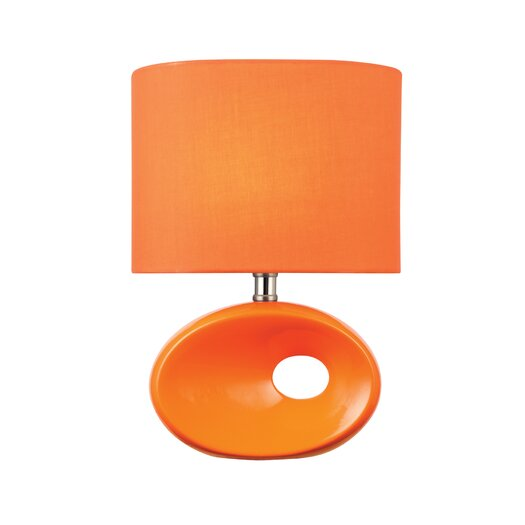 """Lite Source Hennessy II 13"""" H Table Lamp with Drum Shade"""