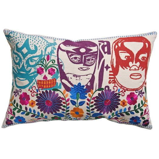 Koko Company Mexico Cotton El Santo Print Pillow