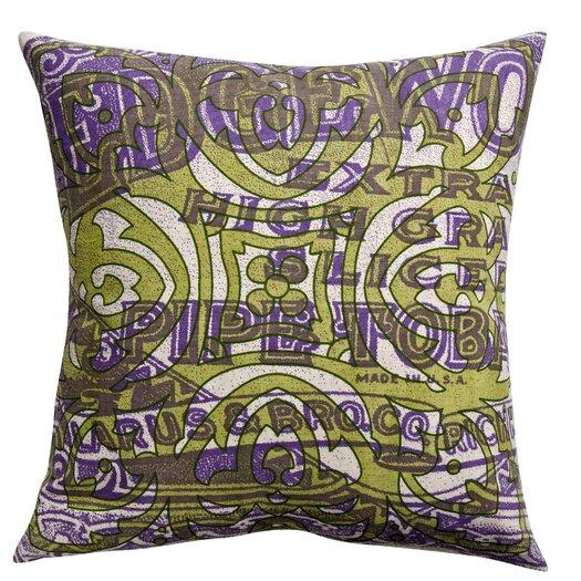 Koko Company Press Cotton Print Edgeworth Pipe and Tile Pillow
