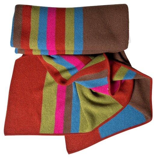 Koko Company Alpaca Wool Multi Stripe Throw