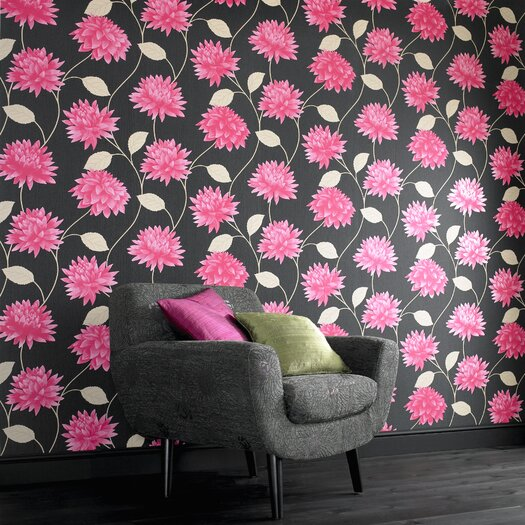 Graham & Brown Serenity Romance Floral Botanical Wallpaper