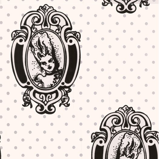 Graham & Brown Barbara Hulanicki Antoinette Figural Flocked Wallpaper