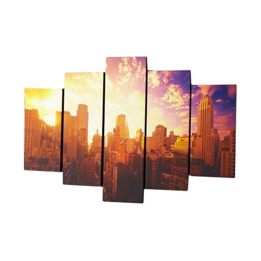 Graham & Brown 5 Piece Good Morning New York Photographic Print on Canvas Set