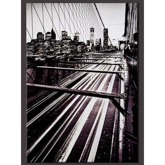 Brooklyn Bridge Lights Photographic Print on Canvas