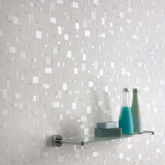 Graham & Brown Contour Spa Pastel Geometric Tile Foiled Wallpaper