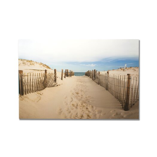 Portfolio Walk To The Beach Photographic Print on Canvas