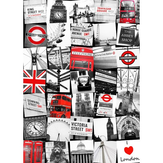 Graham & Brown Graham and Brown London Montage Vintage Advertisement on Canvas