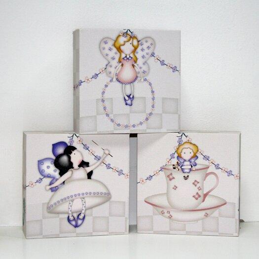 Graham & Brown 3 Piece Heirloom Blocks Canvas Art Set