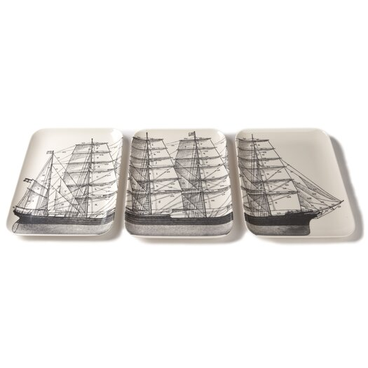 Thomas Paul Maritime 3 Piece Serving Tray Set