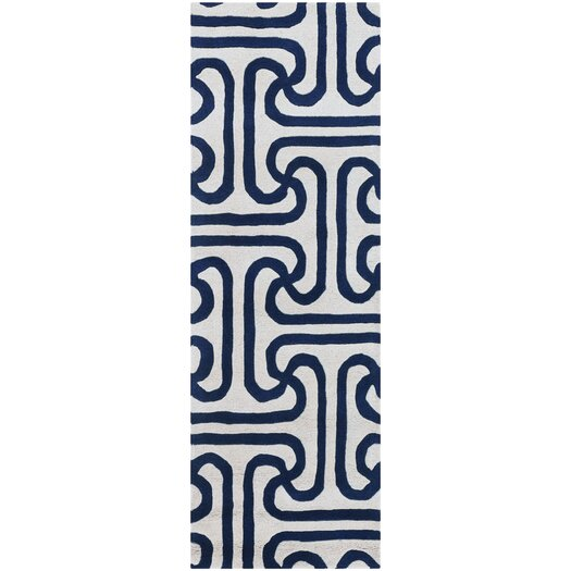 Thomas Paul Tufted Pile Blue Ionic Rug